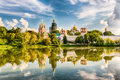 Idillic view of the Novodevichy Convent monastery in Moscow, Rus Royalty Free Stock Photo