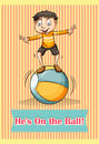 Idiom english he is on the ball Stock Photography