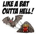 Idiom english saying like a bat outta hell Stock Photos