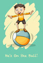Idiom saying he is on the ball Stock Images