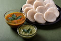 Idli with Sambar and coconut chutney, Indian Dish Royalty Free Stock Photo