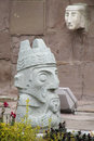 Idol statue from Tiwanaku Royalty Free Stock Photo
