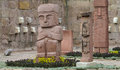 Idol statue from Tiwanaku in La Paz, Bolivia Royalty Free Stock Photo