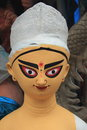Idols of goddess durga unfinished festival in kolkata Stock Photos