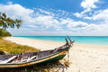 Idyllic beach in Africa Royalty Free Stock Photo