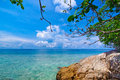 Idyllic beach of andaman sea in tachai island thailand Stock Photo