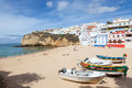 Idyllic Beach Scenery Algarve Royalty Free Stock Photography