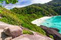 Idyllic beach of Similan islands Royalty Free Stock Photo