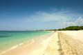 Idyllic beach in varadero cuba the caribbean and the white sandy Royalty Free Stock Photography