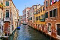 Idyllic canals of venice view down the picturesque italy Stock Image