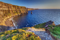 Idyllic Cliffs of Moher in Ireland Stock Photo