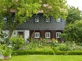 Idyllic house near dresden in germany Royalty Free Stock Photography