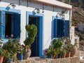 Idyllic house in a small greek village on the island of karpathos Royalty Free Stock Images