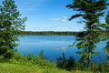 Idyllic lake in Gaspesie Royalty Free Stock Photo