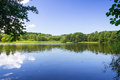 Idyllic lake scenery of the in poland Royalty Free Stock Image