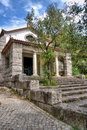Idyllic little church in portugal on the land Royalty Free Stock Photography