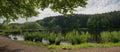 Idyllic moor lake panorama