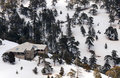 Idyllic mountain chalet and landscape Stock Photography