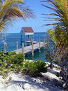 Idyllic Pier Bahamas Royalty Free Stock Photography