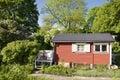 Idyllic red cottage Royalty Free Stock Photo