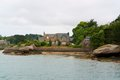 Idyllic scenery around Perros-Guirec Royalty Free Stock Photo