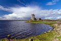 Idyllic scenery with Dunguaire castle Stock Photos