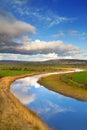 Idyllic scenery of Shannon river Royalty Free Stock Photography