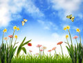 Idyllic spring scenery Royalty Free Stock Images