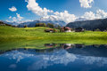 Idyllic summer landscape with clear mountain lake in the Alps Royalty Free Stock Photo