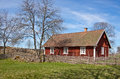 Idyllic Swedish house. Royalty Free Stock Images