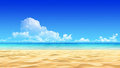Idyllic tropical sand beach background Royalty Free Stock Photography