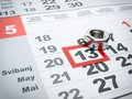 Ieee global engineering day is marked with screw s nut on the calendar Stock Images