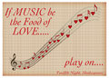 If music be the food of love play on shakespeare valentine or my maybe Stock Photos