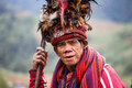 Ifugao the people in the philippines banaue january unknown old man national dress next to rice terraces on january banaue Royalty Free Stock Photography