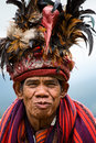 Ifugao the people in the philippines banaue january unknown old man national dress next to rice terraces on january banaue Royalty Free Stock Photo