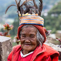 Ifugao the people in the philippines banaue january unknown old woman national dress next to rice terraces on january banaue Royalty Free Stock Photos