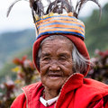 Ifugao the people in the philippines banaue january unknown old woman national dress next to rice terraces on january banaue Royalty Free Stock Images