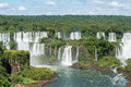 Igauzu waterfall brazil the in Stock Photo