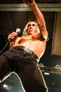 Iggy pop concert august moscow russia american rock singer performing live at milk club Stock Photography