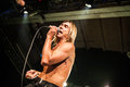 Iggy pop concert august moscow russia american rock singer performing live at milk club Royalty Free Stock Photography