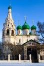 Iglesia cristiana en Yaroslavl Imagen de archivo libre de regalías