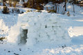 Igloo constructed by the hands for spending the night Royalty Free Stock Photos