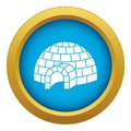 Igloo icon blue vector isolated Royalty Free Stock Photo