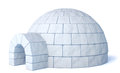 Igloo isolated on white icehouse background three dimensional illustration Royalty Free Stock Photo