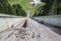 Igman olympic jumps abandoned near sarajevo in bosnia and herzegovina Royalty Free Stock Photo