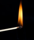 Ignition of a match Royalty Free Stock Photo