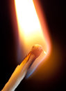 Ignition of match Royalty Free Stock Photo