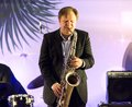 Igor butman and saxophone moscow december russian musician on a new year concert on december in moscow russia Royalty Free Stock Image