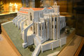 Igreja do carmo lisbon portugal model of church convent in archaeological museum in this church is the ruin of Royalty Free Stock Photos