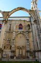 Igreja do carmo lisbon portugal is the ruin of earthquake now this historical building is an archaeological museum Royalty Free Stock Photography